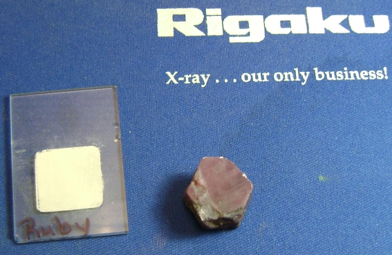 The gem shown in Figure 1 was labeled a ruby at a gem show
