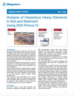 Analysis of Hazardous Heavy Elements in Soil and Sediment Using ZSX Primus IV