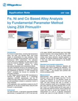 Fe, Ni and Co Based Alloy Analysis by Fundamental Parameter Method Using ZSX PrimusIII+